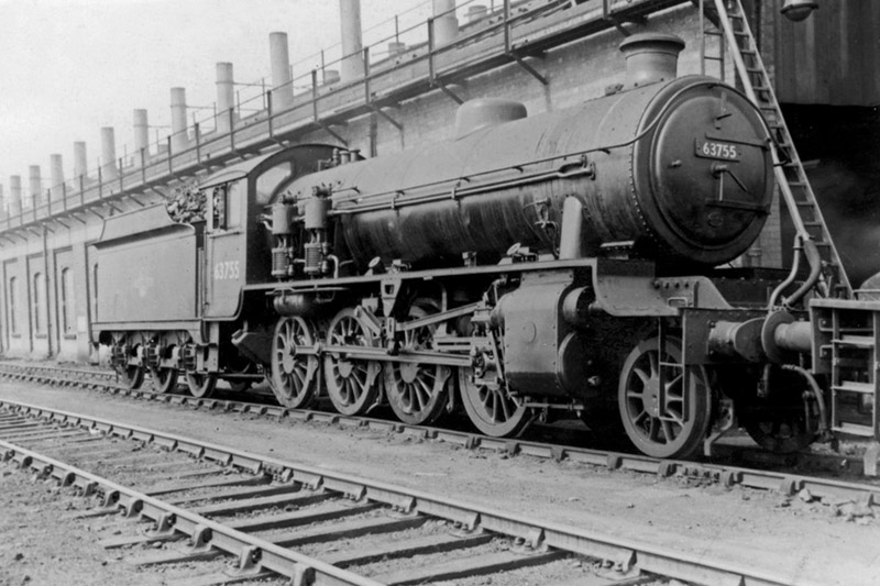 Steam on Immingham Shed